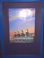 VTG David Byrd Temple Of Dreams Pan Pacific American Cinema Los Angeles Poster