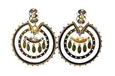 UNIQUE Victorian 14k Yellow Gold Earrings Circa 1900s Ethnic