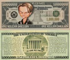Leo DiCaprio Caricature Million Dollar Tract Fun Money Novelty Note +FREE SLEEVE