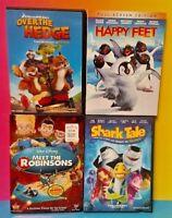 Over the Hedge Happy Feet Shark Tale Robinsons - DVD Movie Disney Kids Pixar ot