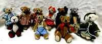 10 ASSORTED MINIATURE DOLLHOUSE BEARS  COTTAGE COLLECTIBLES GANZ