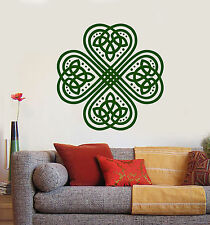 Vinyl Wall Decal Clover Trefoil Celtic Irish Symbol Ornament Stickers (1366ig)