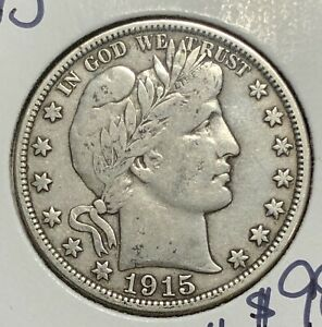 1915 D Barber Half Dollar  --  MAKE US AN OFFER!  #B3885