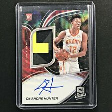 2019-20 Spectra DE'ANDRE HUNTER Rookie Patch Auto Black Wave 20/39