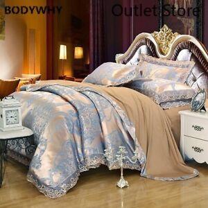 Luxury Retro Satin Jacquard Cotton Bedding Set 4 Pcs Cover Set Sheet Bedclothes