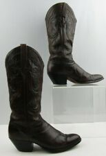 Ladies Dan Post Brown Leather Western Boots Size: 7 C