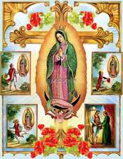 Madonna Lady of Guadalupe Virgin Mary Quilting Fabric Block