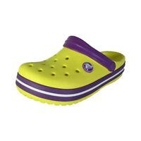 Crocs Crocband Kids Slip On Clog Shoes, Sunshine/Amethyst, US 10/11 Little Kid