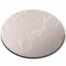 Round Mouse Mat - Rose Gold Marble Effect Matte Office Gift #2452