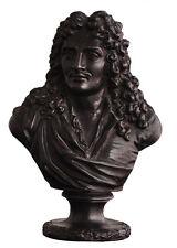 Buste de Molière époque XIXème en fonte patinée hauteur 16 cm