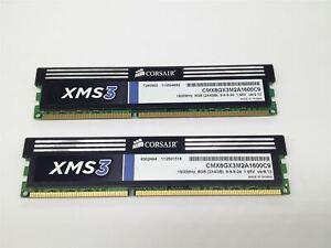 Corsair XMS3 DDR3 8GB (2x4GB) 1600MHz CMX8GX3M2A1600C9 Used Tested