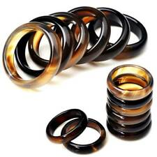 100Pcs Wholesale Lots Assorted Natural Gemstone Agate Band Rings Jewelry Gifts