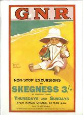 Railway Poster 20: GNR Great North Railway London - Skegness Happy as a Sandboy