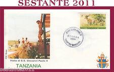 VATICANO FDC ROMA VISITA PAPA GIOVANNI PAOLO II TANZANIA 1990 (648)