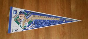 1993 George Brett ROYALS 3154 Hits pennant w/ stats! LE /3154 HOFer Kansas City