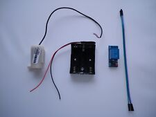 Mini Submersible Aquarium Water Pump and Battery Holder and Relay. Raspberry Pi.