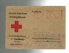 1946 Flensburg Germany Red Cross Displaced Persons DP Camp Stampless PC Cover
