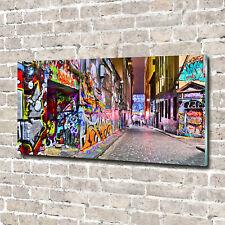 Acrylglas-Bild Wandbilder Druck 140x70 Deko Kunst Bunte Graffiti