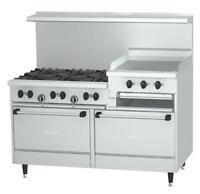 "Garland Sunfire 60"" Gas Restaurant Range 24"" Raised Griddle 6 Burner - X60-6R24R"