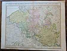 1789 Faden Austrian Possessions in Netherlands Habsburgs Antique Large 77x58cms