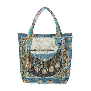 Vintage Boho Embroidered Handbag Indian Banjara Tote Hobo Shoulder Bag For Women