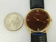 GENUINE PIAGET SOLID 18K YELLOW GOLD RONDE 31MM MEN'S DRESS WATCH