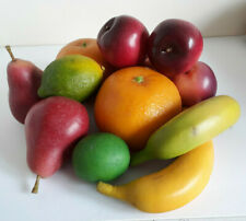 Realistic faux fruit for decorative fruit bowls or display. High quality finish
