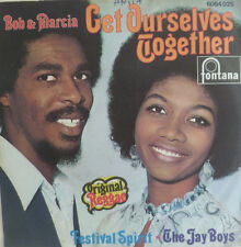 "7"" 1970 REGGAE RARE VG+ ! BOB ANDY & MARCIA GRIFFITHS : Get Ourselves Together"