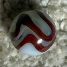 Akro Agate marble, Oxblood,swirl, machine made, vintage.  A  9