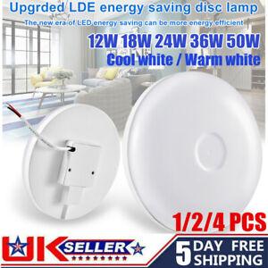 12W 18W 24W 36W 50W LED UFO Ceiling Light White Warm Panel Wall Bathroom Lamp UK