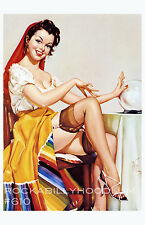 Pin Up Girl Poster 11x17 Gypsy Fortune Teller Flapper Art Deco Crystal Ball