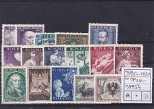 Österreich Jahrgang 1954 Komplett mit 16 Werten Postfrisch ** MNH