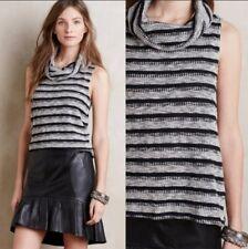 Dolan Anthropologie Cowl Sweater Tank - Black Gray Sleeveless Knit Top Small