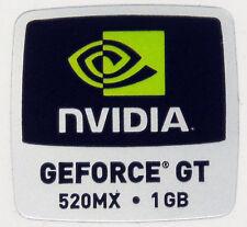 NVIDIA GeForce GT 520mx 1gb STICKER ADESIVO LOGO 18x18mm (805)