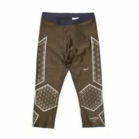 Nike Men's Gyakusou UC Swift Capri Tights Running Sports Gym Brown Active Shorts