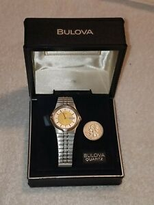 Vintage Bulova Wristwatch In Original Presentation Case