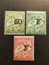 FRANCE COLONIE ALGERIE TIMBRE TAXE N°12/13/14 NEUF * MH 1926 COTE 8€
