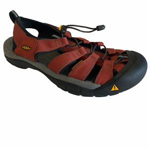 KEEN Clearwater CNX Mens 12 Red Waterproof Canvas Hiking Sandals Shoes