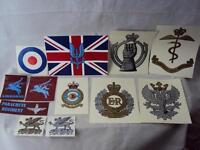 British Military Army Regimental Vehicle Stickers SAS, AAC, RE, RAC, PARA, RAF