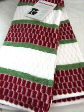 "KitchenAid Terry Cloth Kitchen Towel Set Brick Pattern Red/Green 2 Pc 16""x 26"""
