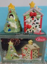 Christmas Salt & Pepper shakers Christmas Tree & house Iob