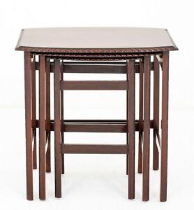 Mahogany Nest of Tables Antique