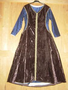 Mittelalter Gewand Kleid Überkleid Surcot Höllenfenster Gewandung Damen LARP