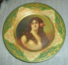 rare old tin litho Vienna Art plate tray advertising Anheuser-Bush Malt Nutrine