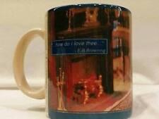 Boyds Bears Porcelain Mug New How Do I Love Thee 1995 Vintage Parlor Book Readin