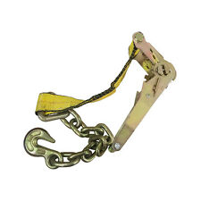 Ratchet Strap with Chain and Hook, 2in. x 27ft