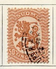 Finland 1918 Early Issue Fine Used 50p. 119675