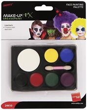Halloween Face Painting Palette with Applicator Seven Colours Greasepaint