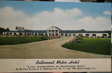 c1940s Bellemont Motor Hotel on the By Pass Baton Rouge Louisiana postcard view