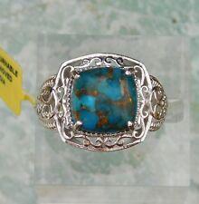 Mojave Turquoise RING size 8 Platinum/Bond TGW 6.65 cts.
